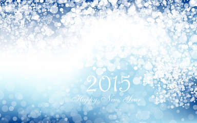 New year 2015 in blue background. Vector. Clip-art