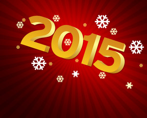 New Year 2015 - red