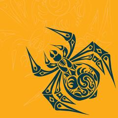 Spider Tribal Tattoo