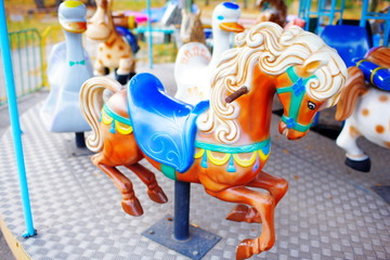 old children's carousel in the park