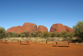 The Olgas in the Northern territory in Australia