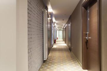 Long corridor interior