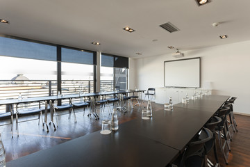 Interior of a modern conference room