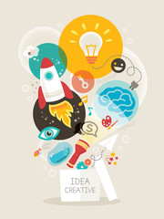 Creative idea Illustration