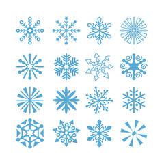 Schneeflocken und Sterne Set 01