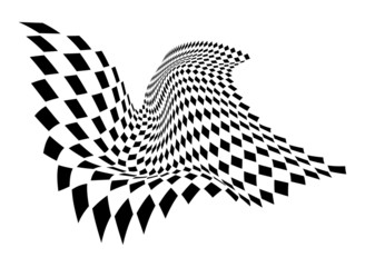 Abstract Squares Wavy Graphic