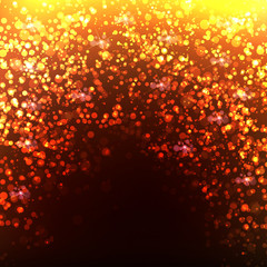 Gold Bokeh Background, easy editable