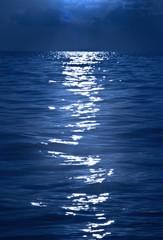 Ripple reflection on dark water