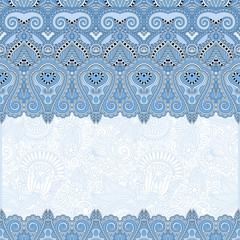 ornamental floral folkloric blue colour background