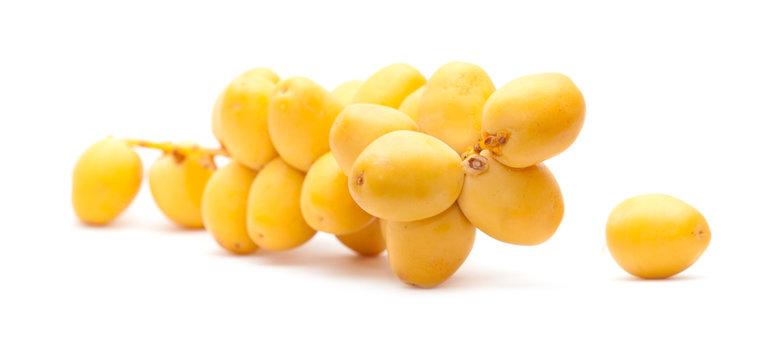 fresh date fruit isolated on white