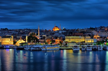 One Of the Istanbul's Blue Evening