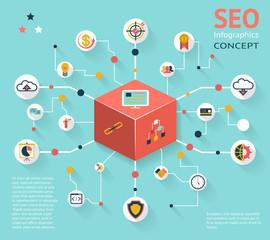 SEO Infographic Icon Concept