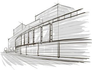 sketch of stadium