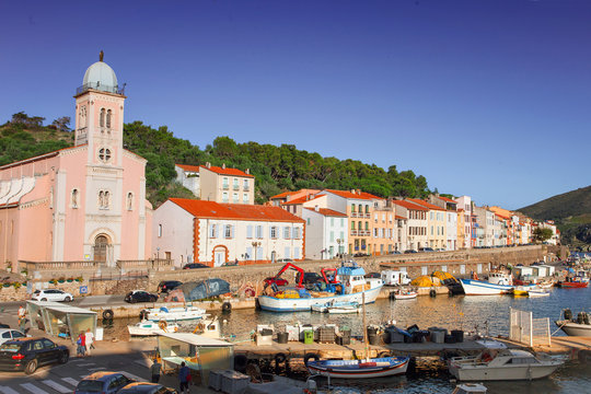 Mediterranean town of Port-Vendres, France