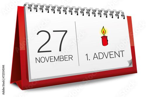 kalender rot 27 november 1 advent 2016 stockfotos und lizenzfreie vektoren auf. Black Bedroom Furniture Sets. Home Design Ideas