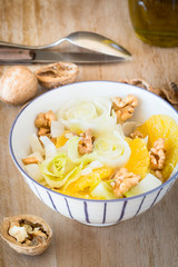 Belgian endive salad with orange and walnuts