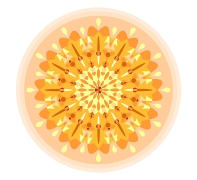 Yellow mandala for obtaining energy