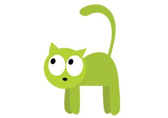 zjeżony kot