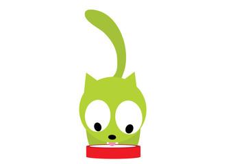 kot pijący mleko