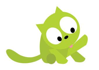 kot liżący sobie futerko