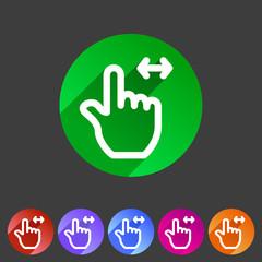 Drag hand flat icon