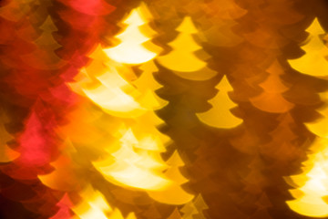 yellow and red fir trees shape photo as background