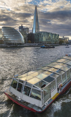 City of London Skyline and ferries