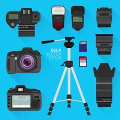 Vector DSLR camera set
