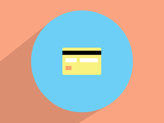 Credit card ,Flat design style