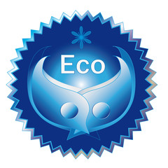 Decorative label for ecological theme, vector format