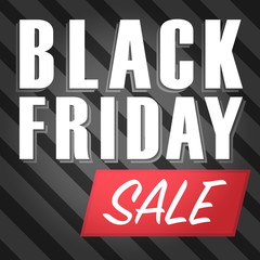 Vector of Black friday sale poster