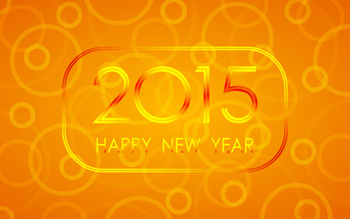 happy new year 2015 in circle ring pattern background