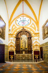 SEVILLE, SPAIN - JUNE 4, 2014 Interior of the Royal Alcazar in S