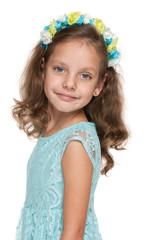 Happy lovely little girl