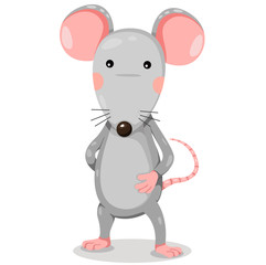 Rat cartoon funny vector