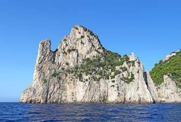 The sea stack (faraglione) Stella off the coast of Capri, Italy