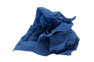 Blue napkin paper ball