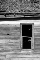 Run Down Abandoned Farm House Bleached Rotting Wood