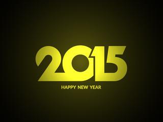 Shiny happy new year 2015 text design