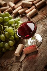 Vintage wine still life
