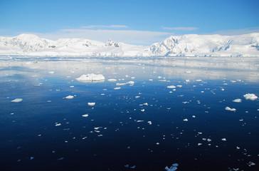 Wall Mural - blue antarctic ocean