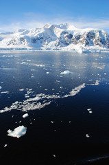 Wall Mural - long ice floe in antarctica