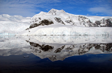 Wall Mural - perfect reflections in antarctica