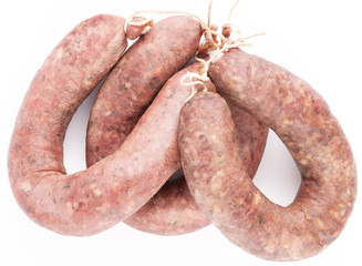 three traditional Bulgarian's sausages