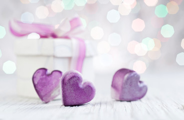 heart gift box abstract background
