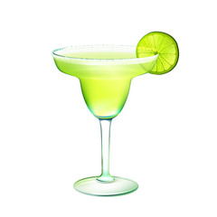 Margarita cocktail realistic