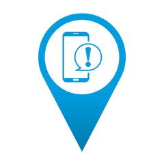 Icono localizacion smartphone alerta