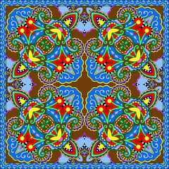 Acrylic Prints Moroccan Tiles silk neck scarf or kerchief square pattern design