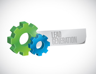 gears and lead generation sign