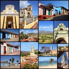 Trinidad, Cuba - travel photo collage